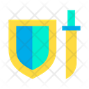 Adventure Game Blade Shield Icon