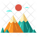 Adventure Climbing Hiking Icon