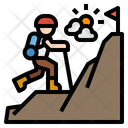 Hiking Mountain Backpack Icon