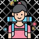 Adventurer Female Adventurer Tourist Icon