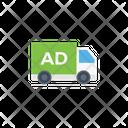 Ads Truck Banner Icon