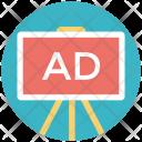 Ad Board Easel Icon