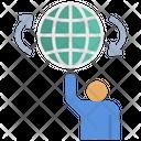 Influencer World Centralization Icon