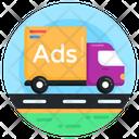 Ad Van Advertisement Van Broadcast Van Icon