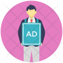 Advertiser Ads Placard Icon