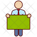 Business Man Board Icon