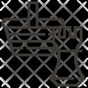 Advertising Basket Ecommerce Icon