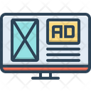 Adspace Mockup Advertising Icon