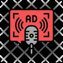 Advertising Radio Color Icon