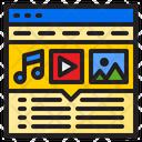 Advertising Media Multimedia Advertising Icon