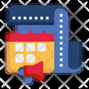 Advertising Media Scheduling Bullhorn Calendar Icon
