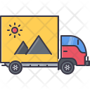 Advertising on truck Icon