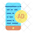 Advertising Text Icon