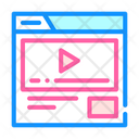 Video Advertising Color Icon