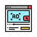 Video Advertisement Color Icon