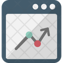 Adwords Online Graph Web Analytics Icon