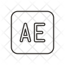 Ae After Effect Icon