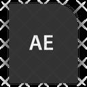 Ae File Document Icon
