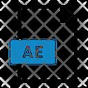 Ae File Type Text Icon
