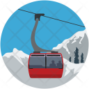 Aerial Lift Chairlift Icon