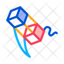 Aerial Cubes String Icon