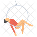 Aerial Hoop Lyra Aerial Ring Icon