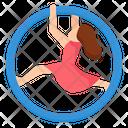 Hoop Aerial Ring Hoop Gymnast Performance Festival Carnival Icon