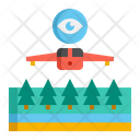Aerial Reconnaissance Drone Photography Icon
