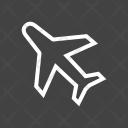 Aero Plane Flight Icon
