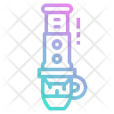 Aeropress Press Coffee Icon