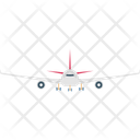 Aeroplane Air Travel Aircraft Icon
