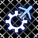 Aeroplane Setting Icon