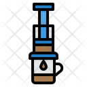 Aeropress Brew Coffee Maker Icon