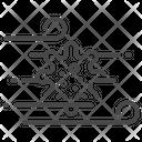 Aerosol Airborne Virus Icon