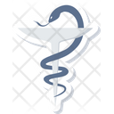 Asclepius Medical Sign Icon