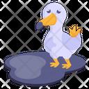 Bird Pollution Duck Duckling Icon