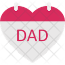 Affection Father Care Father Heart Icon