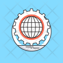 Affiliate Cog Globe Icon
