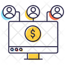 User Network Financial Network Personal Connection Icon