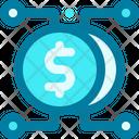 Affiliate Crowdfunding Economic Icon
