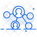 Affiliate Marketing User Network User Connection Icon