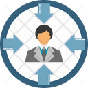 Man Arrow Management Manager Icon