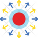 Affiliation Network Centralized Decentralization Icon