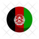 Afghanistan Flag Country Nation Union Empire Icon