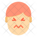 Afraid Emotion Face Icon