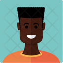 African -american boy Icon