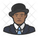 African Man Boler Suit Icon