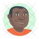African American Man Avatar Person Icon
