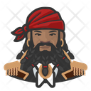 African Pirate Beard Man African Pirate Icon