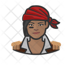 African Pirate Woman African Pirate Icon
